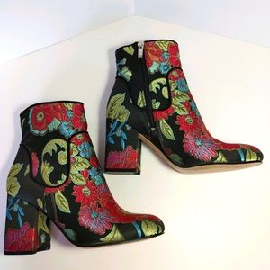 - Marc Fisher Jana Embroidered Ankle Boot